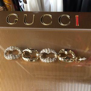 Amazing Gold Hammered Marina Chain Link Bracelet